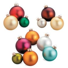 Assorted Christmas Ornament Sets-24 Count