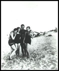 Lifeguard and bathin beauties at Virginia Beach 1920s