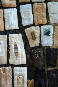 detail of Tsunami, mixed media by Diane Savona #textiles #fiber_art