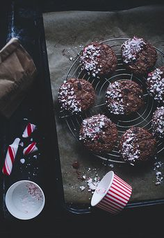 Candy cane chocolate cookies #holidays #christmas