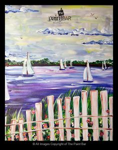 Summer Sailboats Painting - Jackie Schon, The Paint Bar