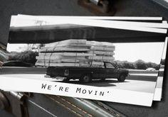 We're Moving Postcards.  via Etsy.