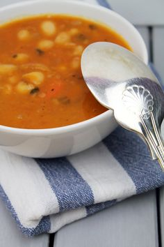 Traditional Greek thick bean soup