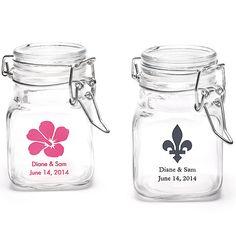 Personalized Glass Jar Favor Holder