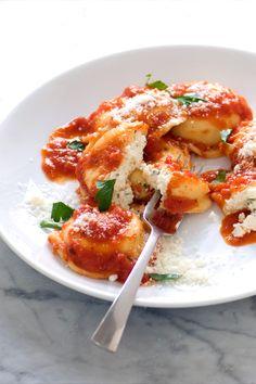 Homemade Ricotta & Spinach Filled Ravioli