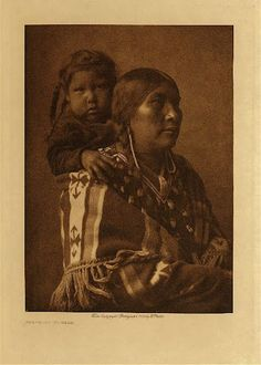 Crow mother and child - 1908