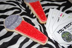 Microphone Cookies for a Pop Star Birthday Party
