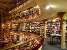 A theatre turned into a library.