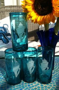 I have these hand blown seashell glasses - love love love them! $49.95