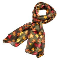 Get your Maple Leaf Fall Scarf in Green at Purple Box Jewelry for only $7.90 along with all your other favorite light weight scarves.