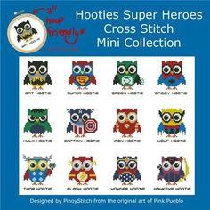 HOOTIES SUPER HEROES...cute little owls in your favorite super hero outfits...too cute !