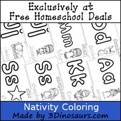 Nativity Printable Pack - 14 coloring pages