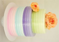 Colores pasteles...en el pastel