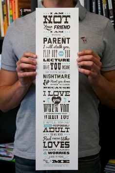 This is awesome!! A Parent's Promise. Beautiful!