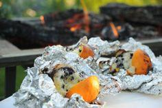 Upscale Campfire Dessert – Orange Blueberry Muffins