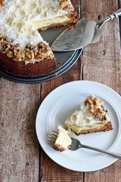 Carrot Cake Cheesecake.  Why choose between your two favorite desserts?  Combine them with this delicious recipe!  |