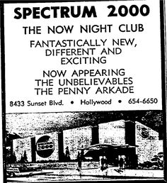 Spectrum 2000, 8433 Sunset Blvd., Hollywood, CA