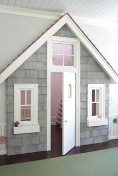 Closet as playhouse.