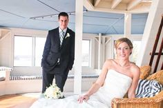 Read all about Whitney & Tim's starfish and nautical themed seaside wedding in Maine