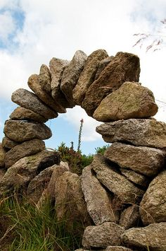 Stone cairn circle in Ireland