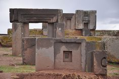 Puma Punku- Remains of a great wharf for lake Titicaca that once ago lapped upon the shores of Tiahuanaco. The architecture holds a mystery- believed to be carved by ancient aliens.