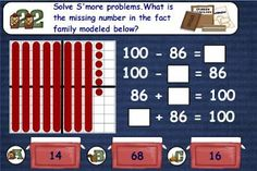 2nd Grade Math Test PrepStation 2: Addition and Subtraction - AWESOME!!! Skills included: 2 and 3-Digit Addition with & without regrouping, 3-Digit Subtraction with & without regrouping, Finding the value of the unknown (box), Fact Families-1-Digit using Dominoes, Fact Families-2-Digit using Hundreds Grid, Inverse Operation, Equal Equations, Word Problems - Single and Multi-Step, Basic Properties of Addition, Benchmark Numbers
