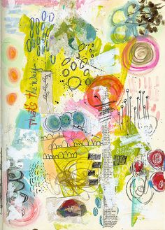 Art Journal Page - THE WAY   Roben-Marie Smith