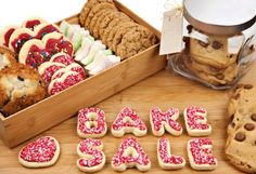 food recip, cake, sale display, pto idea, bake sale ideas, bake sale recipes, bake sale treats, cookies, fundrais idea