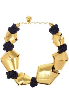 gold-plated rope necklace