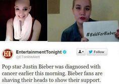Fanáticos se pelaron creyendo que Justin Bieber padecía cáncer