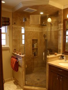 Bathroom Shower Corner Design, Pictures, Remodel, Decor and Ideas - page 27