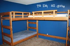 triple bunk beds | And there you have it! One completed triple bunk bed . It is beautiful ...