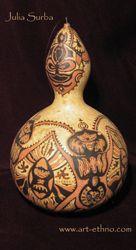 carv gourd, gourd art, craft gourd
