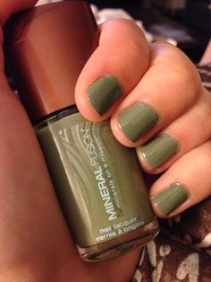 Mineral Fusion Nail Polish in River Rock color. #nailpolish #nails #green