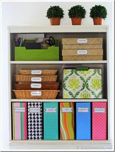 These Container Store magazine files cost $9 retail, but only $3 to make. // 35 Money-Saving Home Decor Knock-Offs