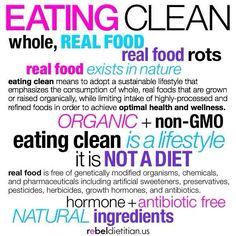 Eat clean :))