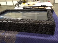 Now thats a safe frame!  JP was down at the fabricators installing screens for an up coming activation.