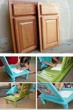 Upcycle a cabinet door. Cute idea!