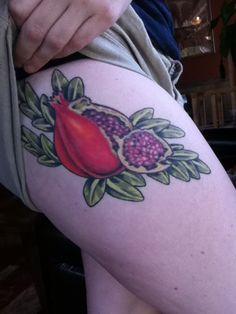 Pomegranate Tattoo on my thigh