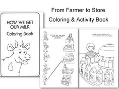 free printable book, how we get milk