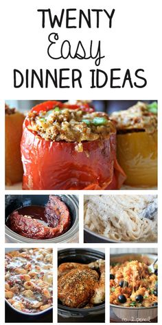 20 Easy Dinner Ideas for the Whole Family. These look really good - and have lots of cheese :)
