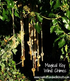 Magical key wind chime...what to do with all those keys that you don't know what they open...Or go to Ace and ask to recycle the keys the have in the key dept.