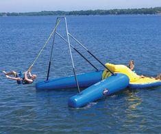 Floating Rope Swing for the lake!!