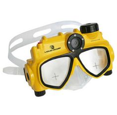 Swim mask with built-in video camera!