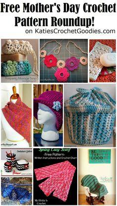 FREE Mother's Day crochet pattern roundup on www.KatiesCrochetGoodies.com   #crochet #freepatterns