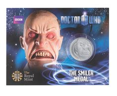 Smiler Dr Who official medal from The Royal Mint