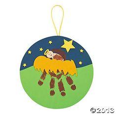 Preschool Christmas Crafts Jesus | Jesus In The Manger Handprint Craft Kit | Christmas Preschool Crafts