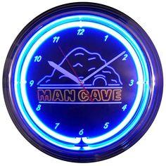 MANCAVE NEON CLOCK