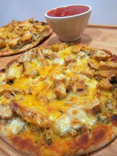 chicken pesto flatbread recipe