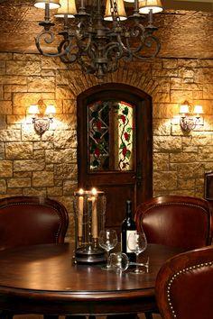 wines, wine rooms, custom homes, old world charm, basement
